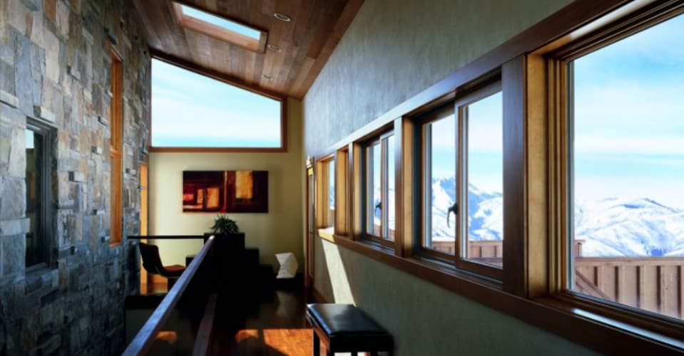 Gliding windows livingroom