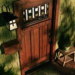 solid wooden entry door